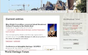WORLD HERITAGE FORUM - UN BLOG QUE MERECE A PENA VER